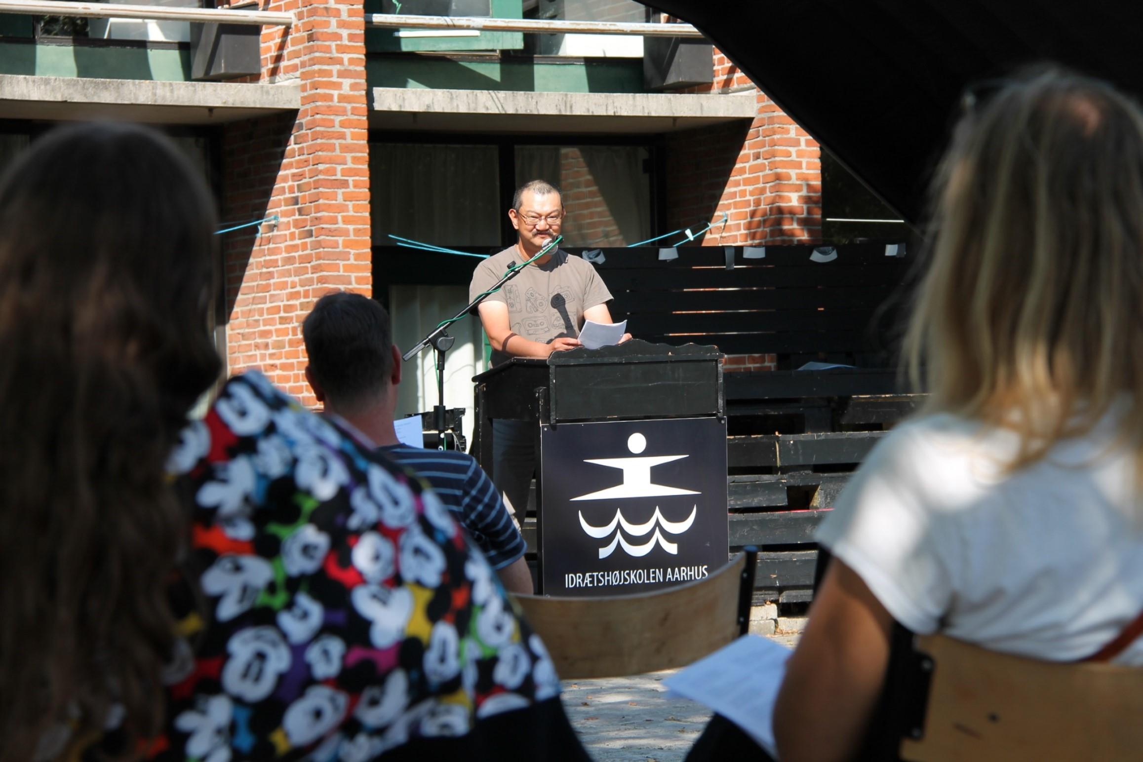 Kim Dyrvig fra UFL var den sidste taler til Ligeværds jubilæumsreception